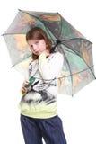 Paraguas verde Imagen de archivo libre de regalías