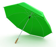 Paraguas verde abierto Imagen de archivo libre de regalías