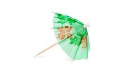Paraguas verde del coctel Imágenes de archivo libres de regalías