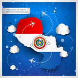 Paraguay air travel abstract background Royalty Free Stock Photography