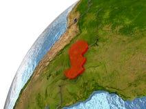 Paraguay auf Erde Stockfoto