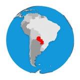 Paraguay auf Kugel Stockfotos