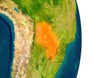 Paraguay auf Planeten Lizenzfreies Stockbild