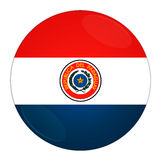 Paraguay button with flag. Abstract illustration: button with flag from Paraguay country Royalty Free Stock Image