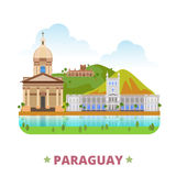 Paraguay country design template Flat cartoon styl Stock Image