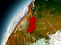 Paraguay de la órbita de Earth modelo Imagenes de archivo