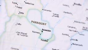Paraguay en un mapa con Defocus