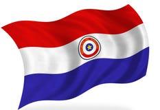 paraguay för bakgrundsflaggaillustration white stock illustrationer