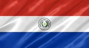 paraguay för bakgrundsflaggaillustration white royaltyfri illustrationer
