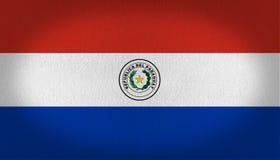 paraguay för bakgrundsflaggaillustration white vektor illustrationer