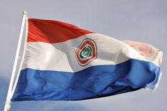 Paraguay flag. Pic of the waving flag of Paraguay Royalty Free Stock Photography