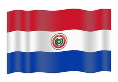 Paraguay flag Stock Images