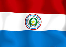 Paraguay Flag Royalty Free Stock Photos