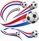 Paraguay flag  with soccer ball Royalty Free Stock Photos