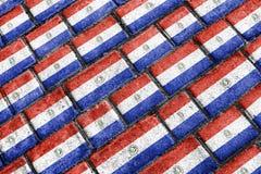 Paraguay Flag Urban Grunge Pattern Royalty Free Stock Image