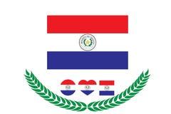 Paraguay-Flaggenvektorillustration Abbildung auf weißem Hintergrund Die Niederlande Stockbilder