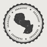 Paraguay hipster round rubber stamp with country. Royalty Free Stock Image