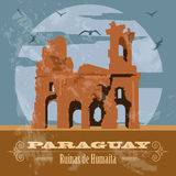 Paraguay landmarks. Ruinas de Humaita. Jesuit of Jesus ruins. Re Royalty Free Stock Photo