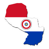 Paraguay map flag Royalty Free Stock Photography