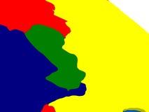 Paraguay op kleurrijke 3D bol Stock Afbeeldingen
