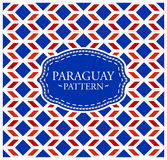 Paraguay pattern - Background texture and emblem with the colors of the flag of Paraguay Royalty Free Stock Photography