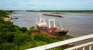 Paraguay River in Asuncion Royalty Free Stock Photos