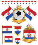 Paraguay sjunker stock illustrationer