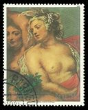 Painting Venus in the Forge of Vulcan by Rubens. Paraguay - stamp 1985: Color edition on Art, shows Painting Venus in the Forge of Vulcan by Rubens Stock Photography