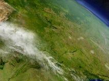 Paraguay van ruimte Royalty-vrije Stock Afbeeldingen