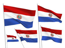 Paraguay vector flags Royalty Free Stock Images