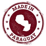 Paraguay vector seal. Royalty Free Stock Images