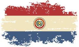 Paraguayan grunge flag. Vector illustration. Stock Photos