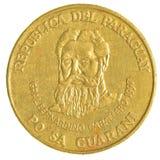 500 paraguayische guaranies Münze Lizenzfreies Stockfoto