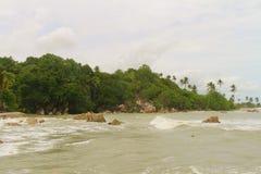 Parai Tenggiri Beach. View of Parai Tenggiri Beach, Bangka, Indonesia Royalty Free Stock Photo