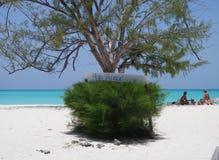 paraiso семьи пляжа Стоковые Изображения