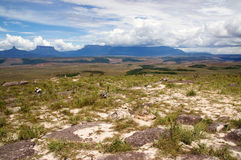 Paraitepui in Gran Sabana. Table-top mountains called Tepui in Gran Sabana, Guayana Highlands, Venezuela, South America. Events of novel of A.Conan-Doyle The Royalty Free Stock Photos