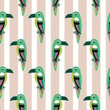Parakeet parrot pattern seamless bird vector. royalty free illustration
