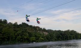 Parakeet Pete's Waterfront Zipline at Branson Landing Stock Image