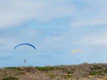 2 Parakiters плавая над заливом Монтерей Стоковая Фотография