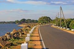Parakrama Samudra, Polonnaruwa Sri Lanka Arkivbilder