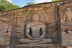 Parakramabahu国王菩萨雕象  库存照片
