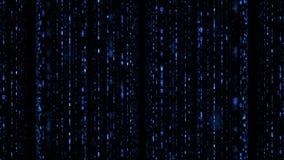 Paralaksa kodu binarny matrycowy spada błękit ilustracja wektor