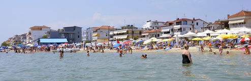 Paralia Katerini beach Stock Images