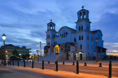 Paralia Katerini church in the main square Stock Images
