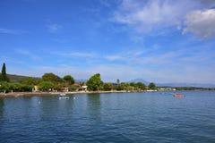 Paralia Politikon coast, Aegean sea, Chalcis, Greece. Royalty Free Stock Image