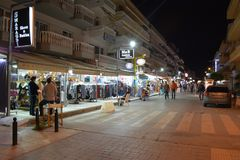 Evening hours in Paralia Stock Images