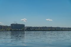 Paralia of thessaloniki city`s most stunning view,beautiful sunny day after long time of rain and clouds great opportunity for a stock images