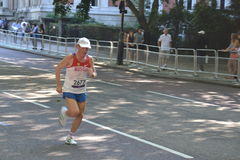 Paralimpic Athlet at the marathon Stock Photography