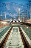 Paralização completa Railway Imagem de Stock Royalty Free