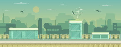 Parallax ready game industrial background royalty free illustration